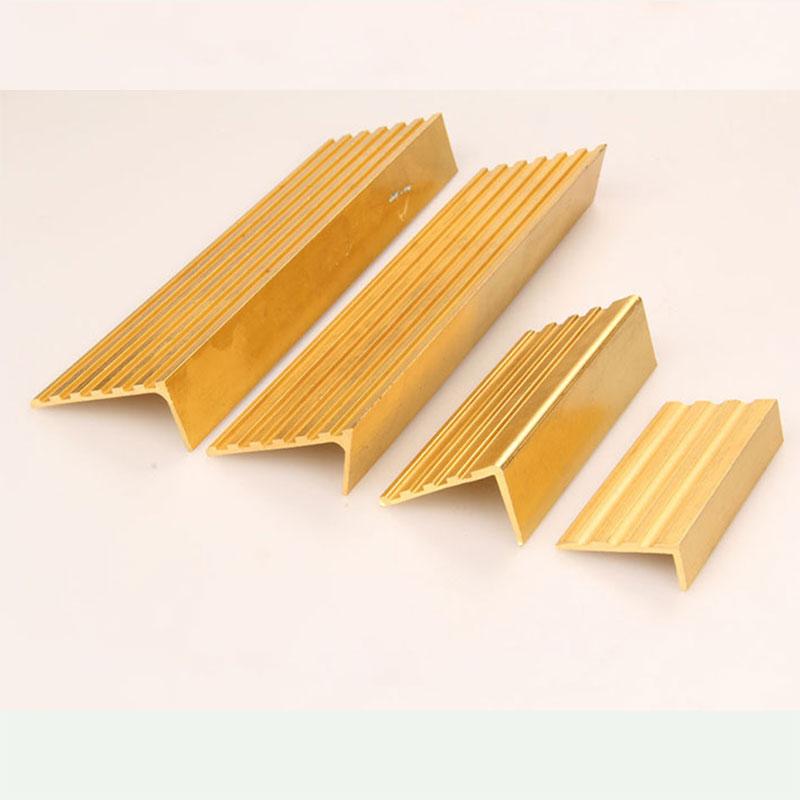 Brass stair nosing