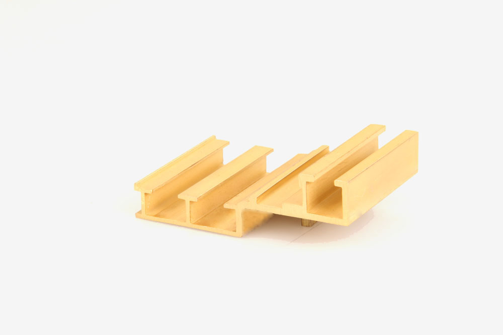 Brass building material extrusions