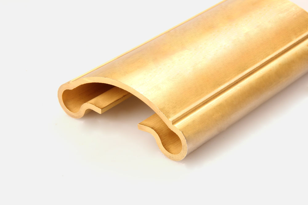 Copper handrail profiles